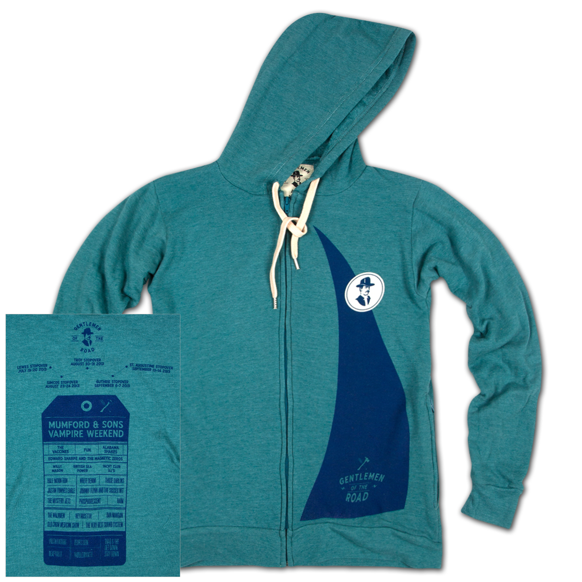 GOTR 2013 Unisex Custom Zip Hoodie w/ Zip Pockets