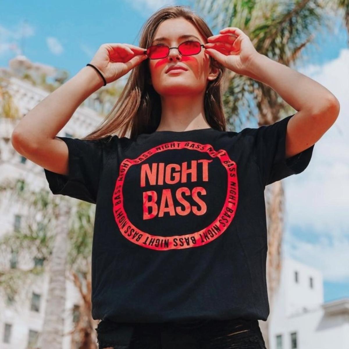 Night Bass Circle Logo Tee