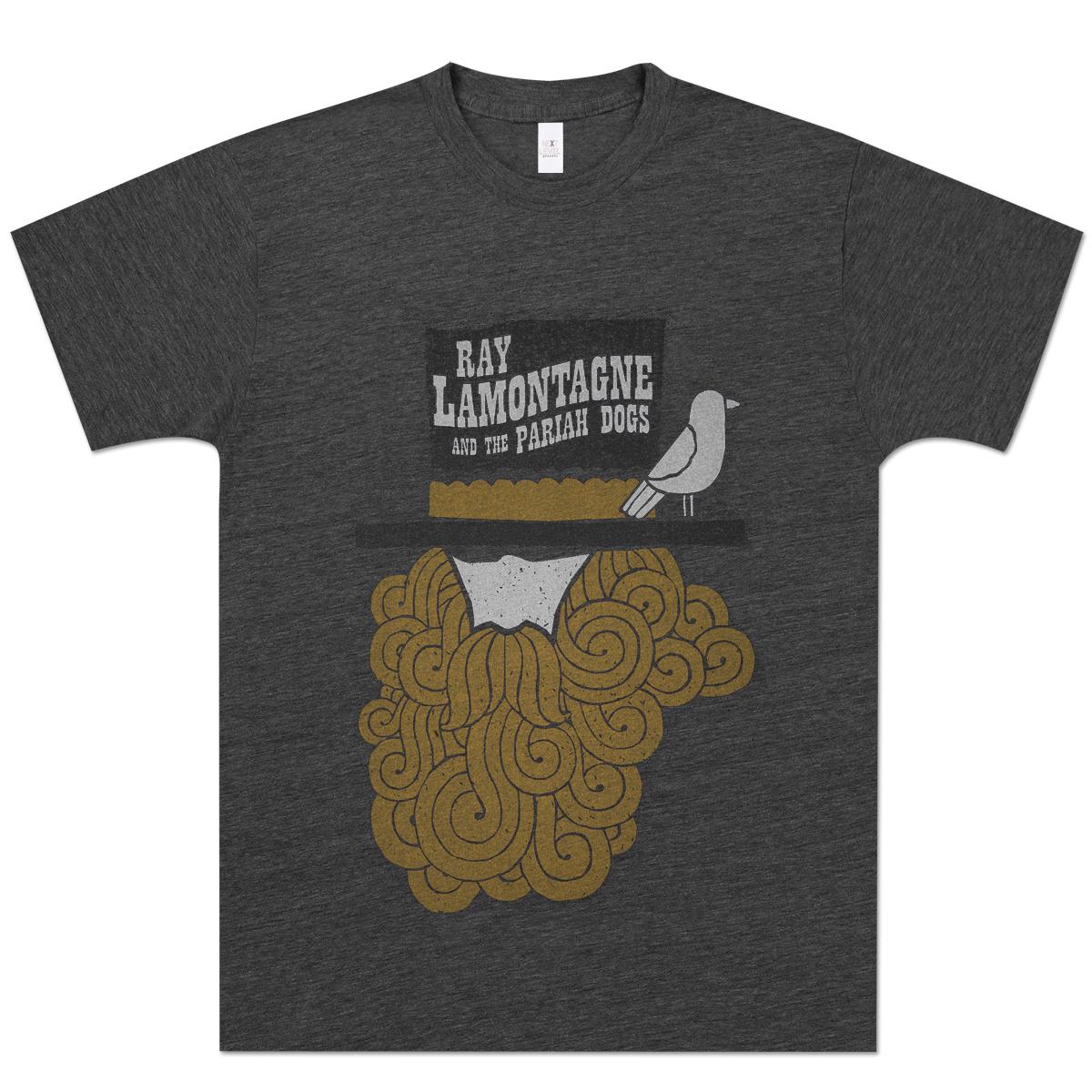 Ray Lamontagne Beard and Bird T-Shirt