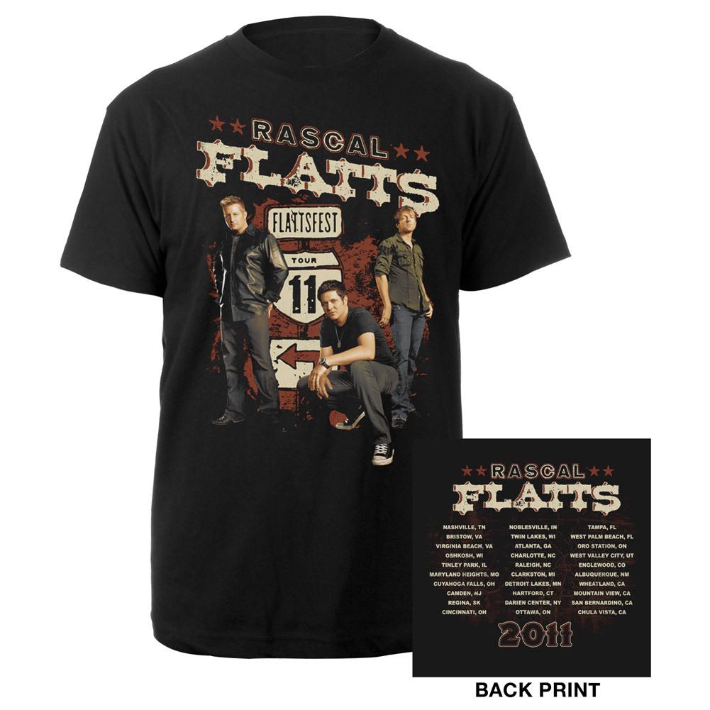 Rascal Flatts  2011 Tour Tee