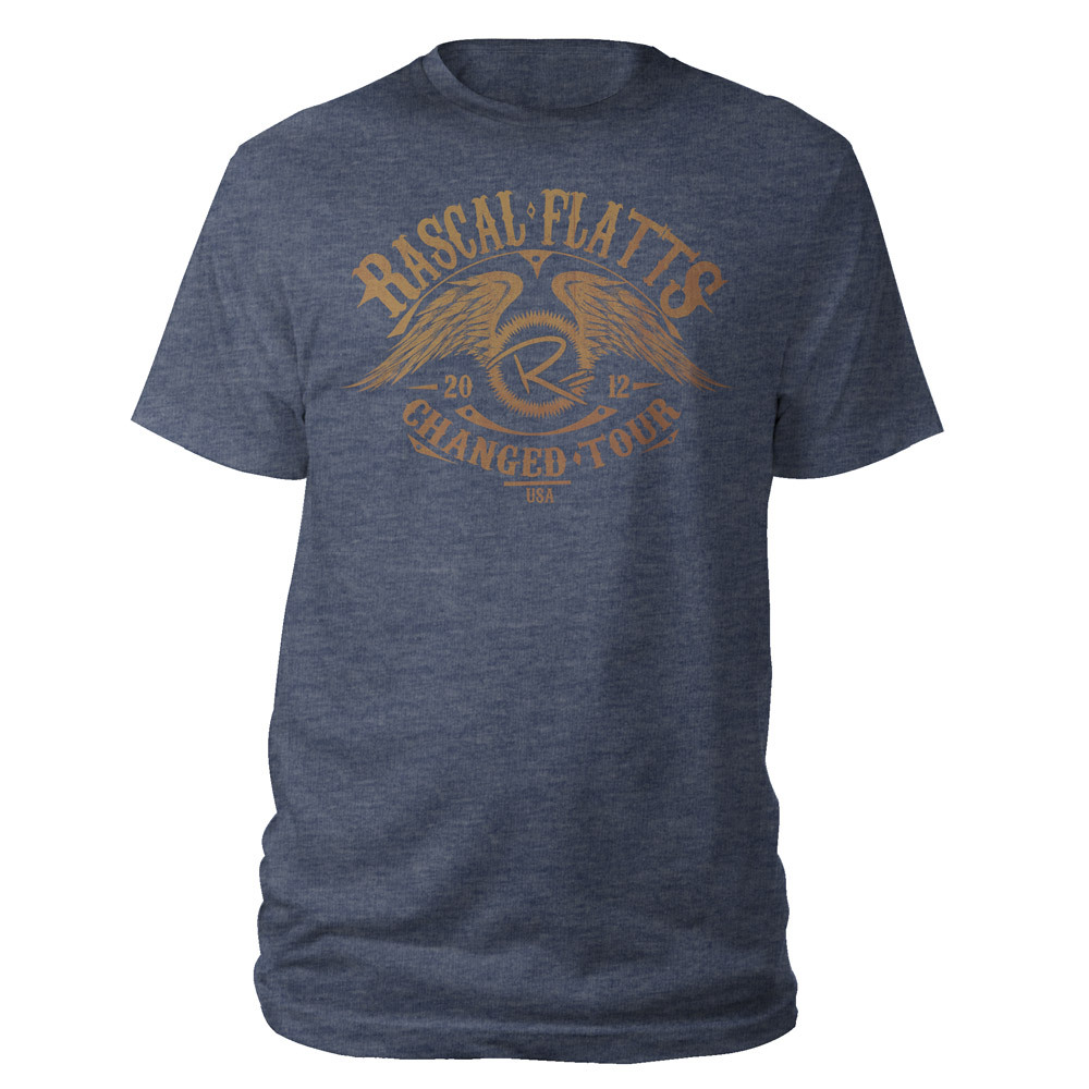 Changed 2012 Navy Winged Tour Tee