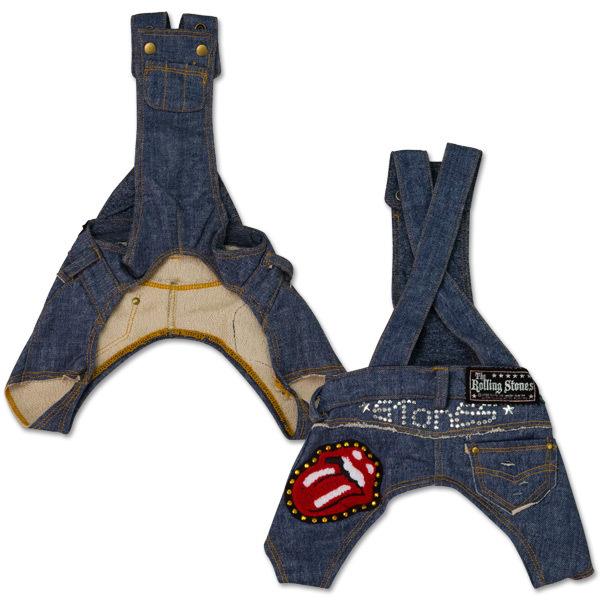 Rolling Stones - Blue Denim Doggie Overalls