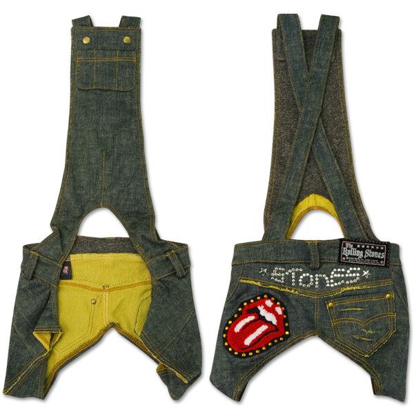 Rolling Stones - Green Denim Doggie Overalls