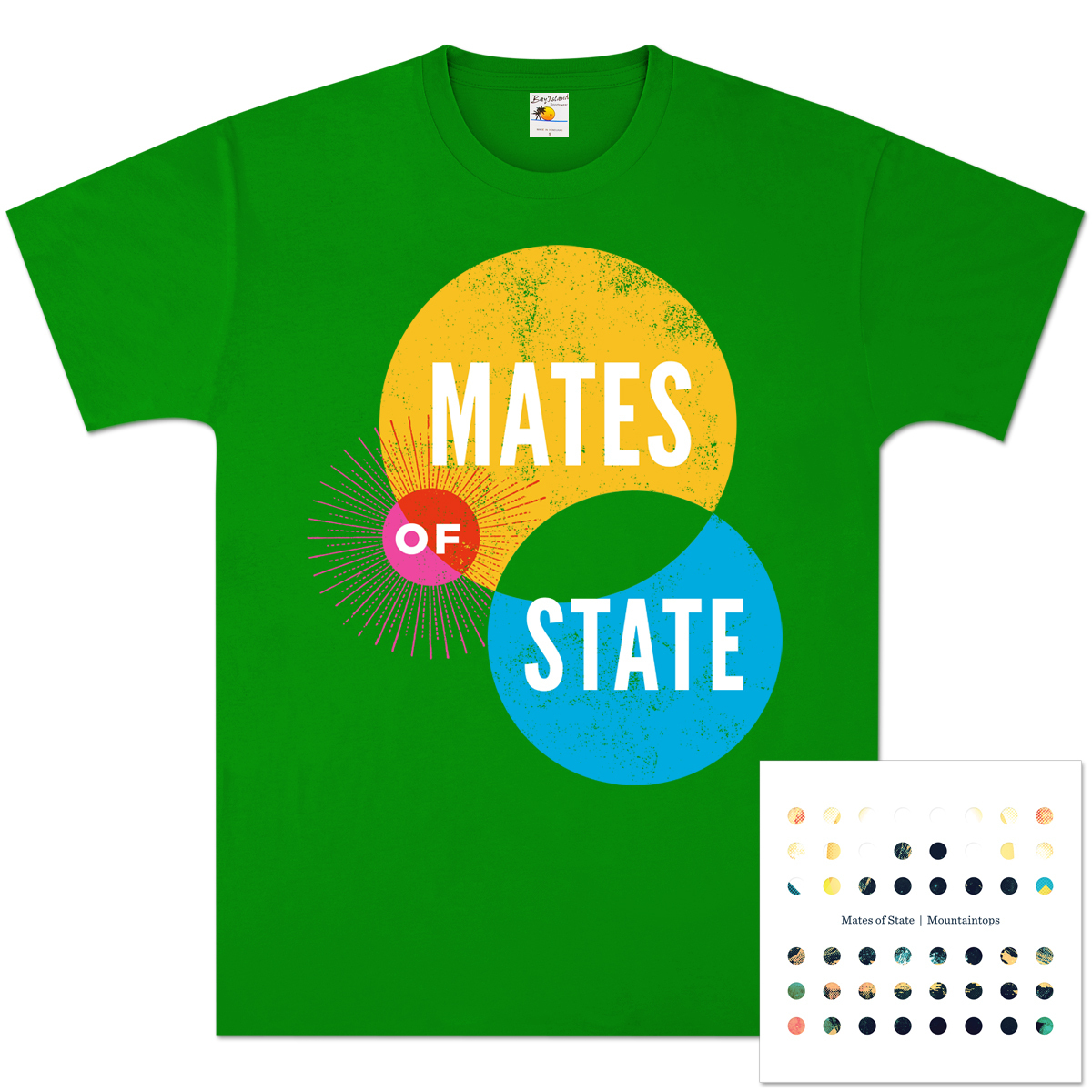 Mates of State Mountaintops CD & T-Shirt Bundle