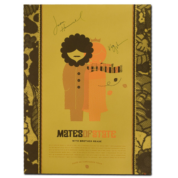 Signed Re-Arranger Tour 2008 Poster