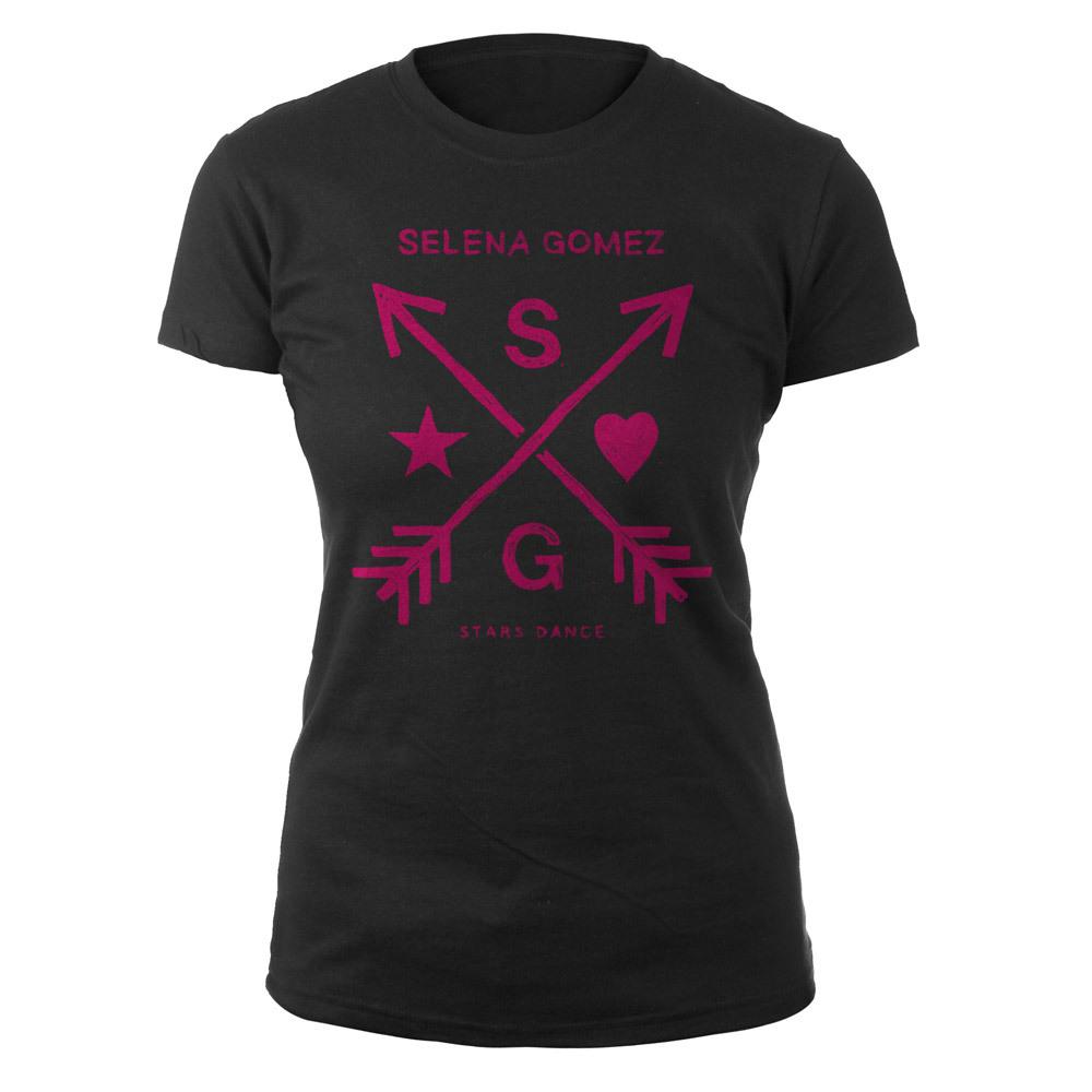 Selena Gomez Stars Dance Pink Arrows Junior Tee
