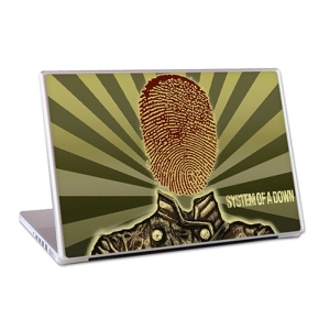 "System Of A Down Thumbprint Soldier 15"" Lap Top Skin"