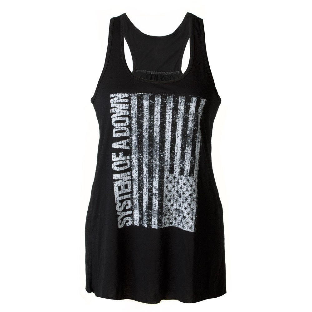 SOAD Sideways Flag Ladies Tank