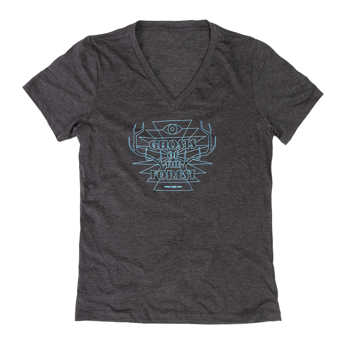 Ghosts of the Forest Women's Horns Tour V-Neck
