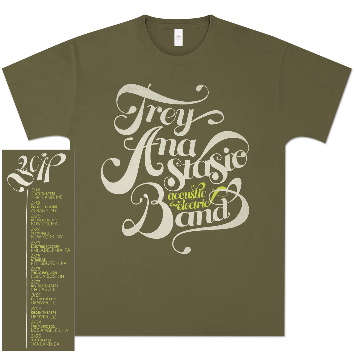 Trey Anastasio Band Acoustic/Electric Swirl on Light Olive