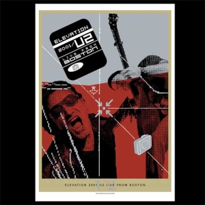 U2 'Elevation 2001/U2 Live From Boston' DVD Lithograph
