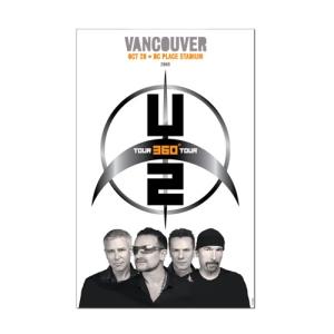 U2 Vancouver Event Tour Poster