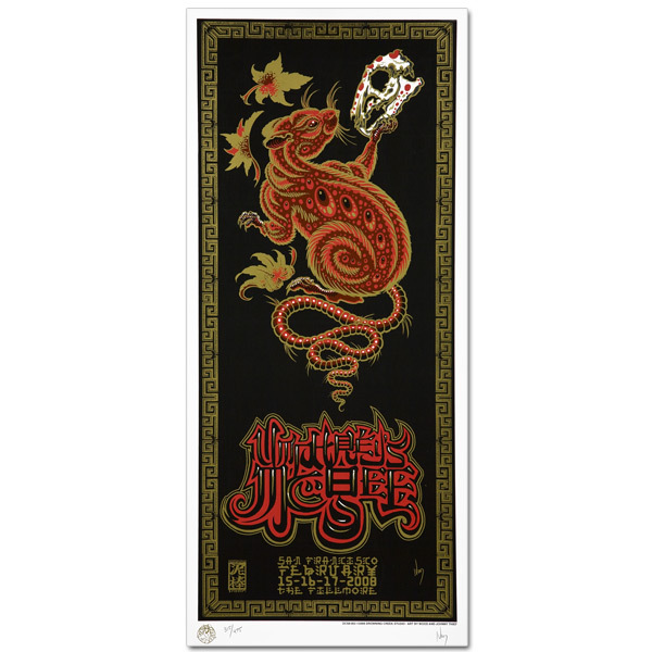 Umphrey's McGee Chinese New Year Series - Year of the Rat Poster