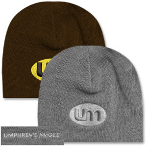 Umphrey's McGee- Oval UM Embroidered Logo on Soft Knit Beenie