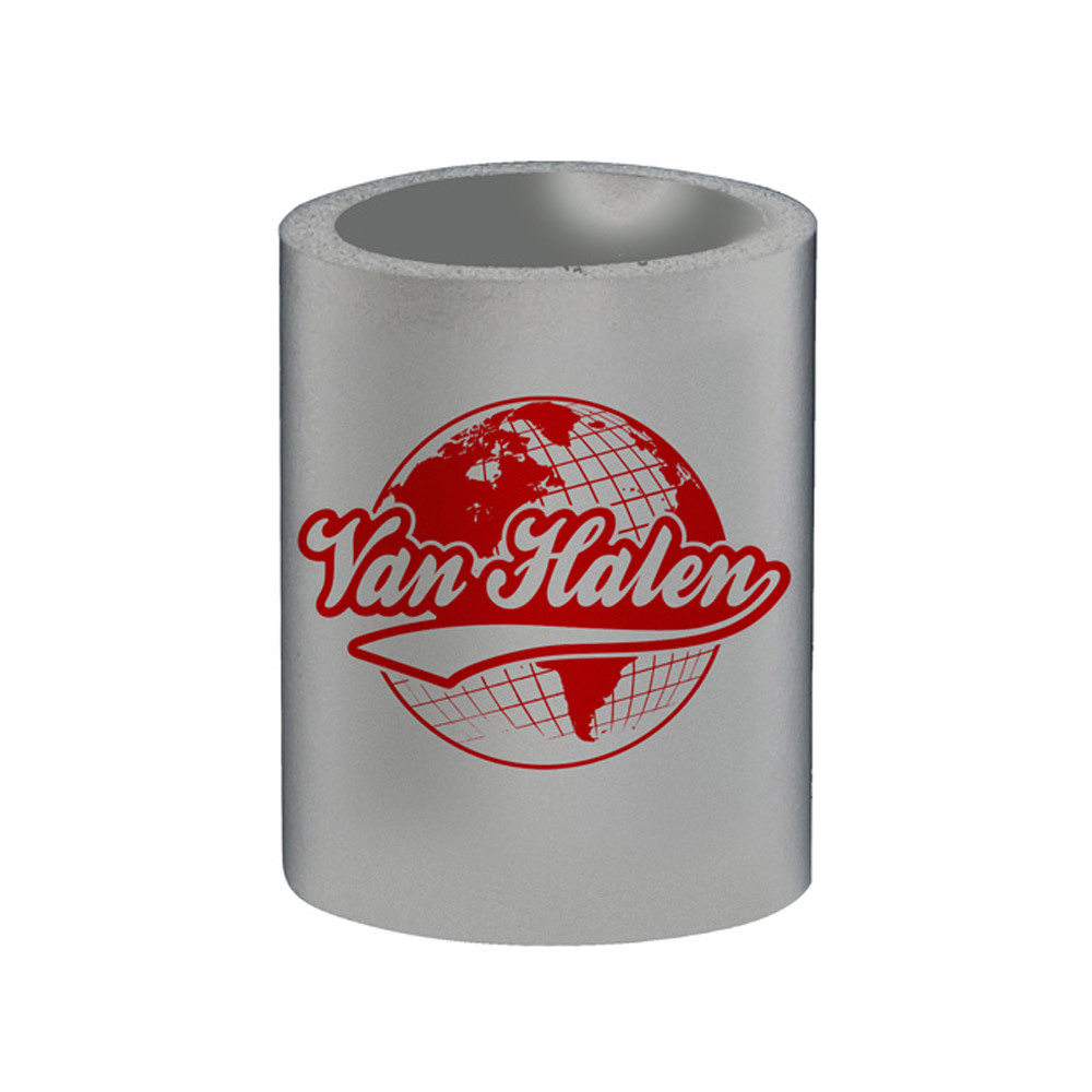 Globe Can Coozie Gray
