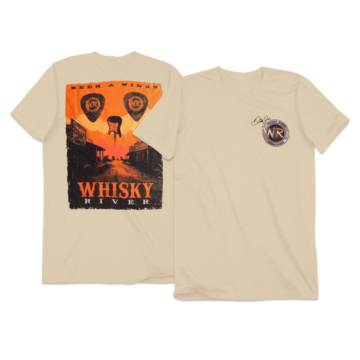 Whisky River Adult Skull Poster T-shirt