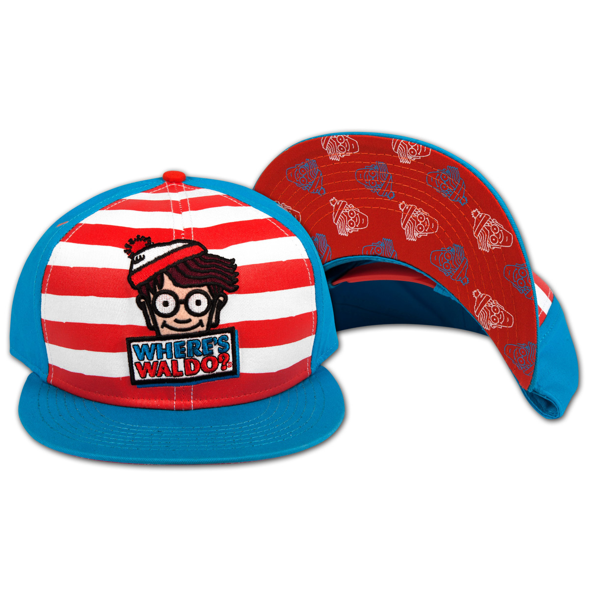 Where's Waldo? Logo Striped Adjustable Cap