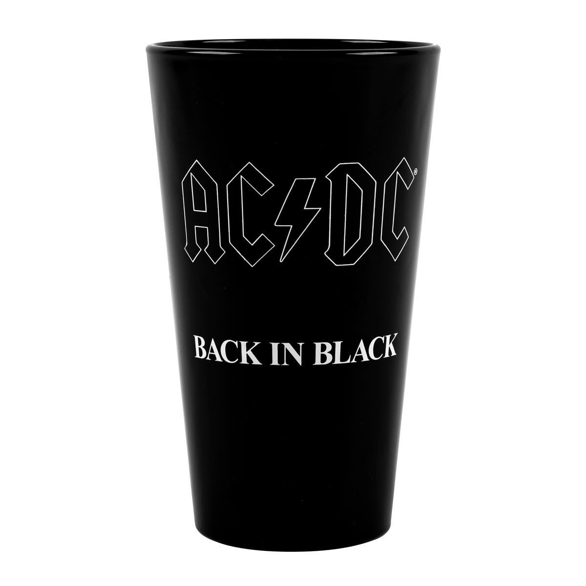 AC/DC Back in Black 40th Anniversary Pint Glass