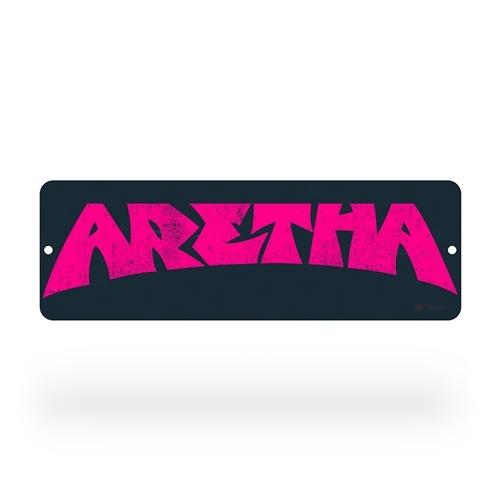 "18 inch Aretha Franklin ""Aretha"" Aluminum Sign"