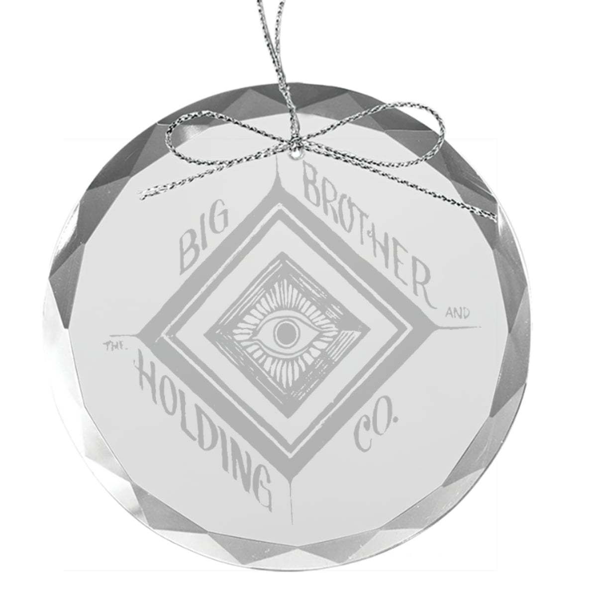 Eye Round Laser-Etched Glass Ornament
