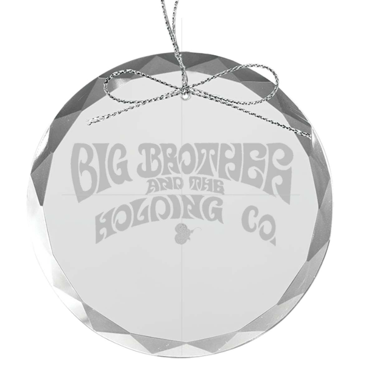 Logo Round Laser-Etched Glass Ornament