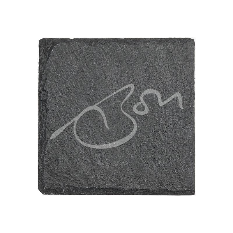Signature Laser Engraved Slate Coaster Set