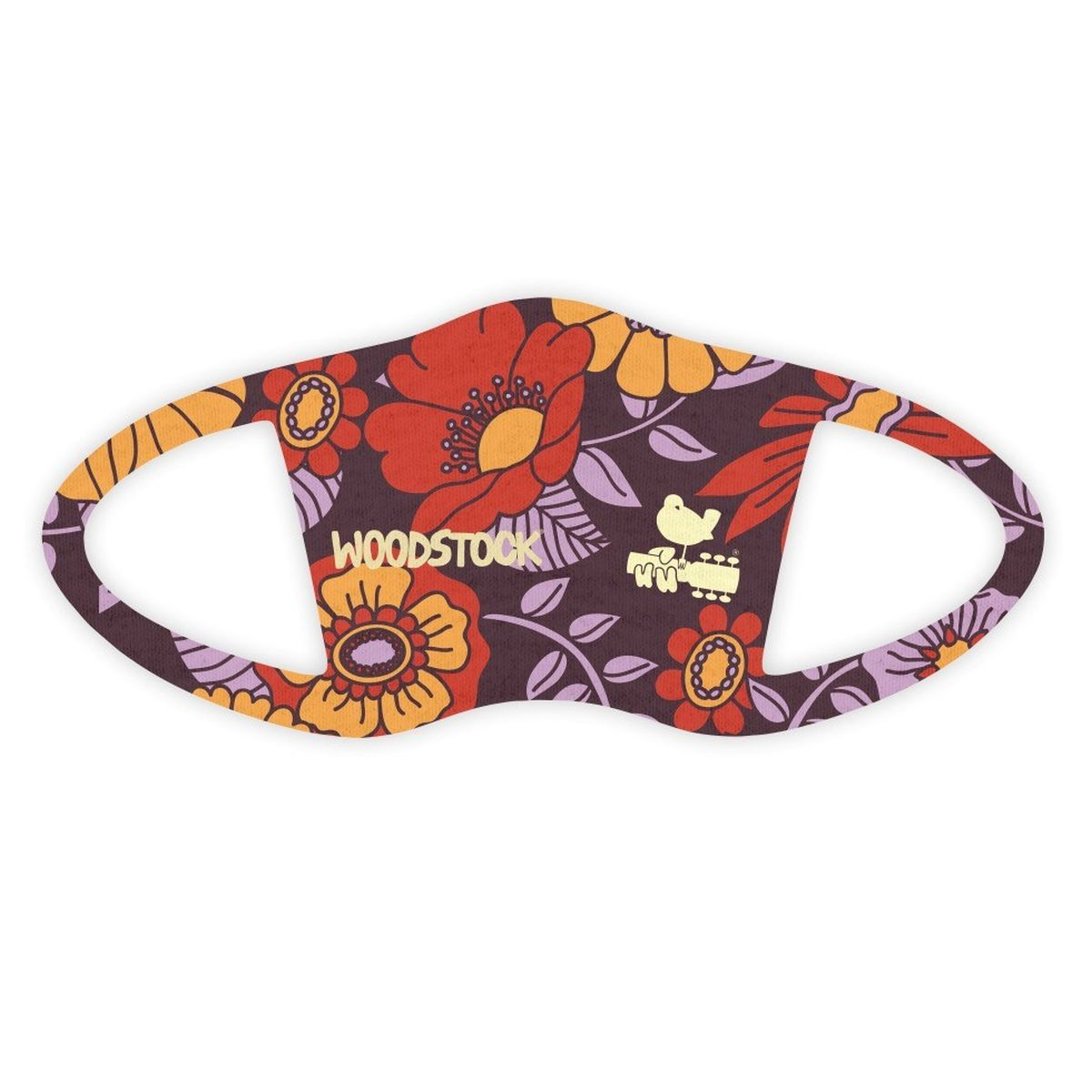 Woodstock Purple Floral Face Covering