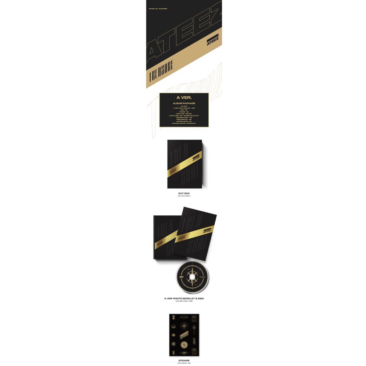 Ateez Treasure A Ver. Package Black Edition & Ladies Black Tee