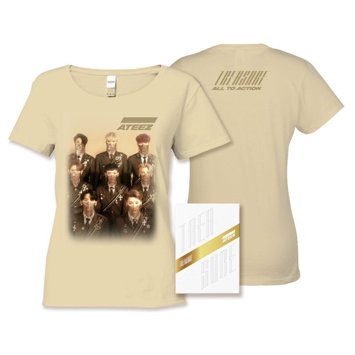 Ateez Treasure Z Ver. Package White Edition & Ladies Tan Tee