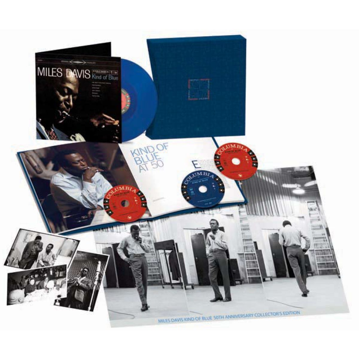 Miles Davis Kind Of Blue Deluxe 50th Anniversary Collector's Edition Box Set (2 CDs / 1 DVD / 1 Blue Vinyl LP)