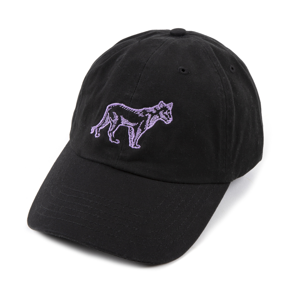 Black Lioness Embroidered Dad Hat