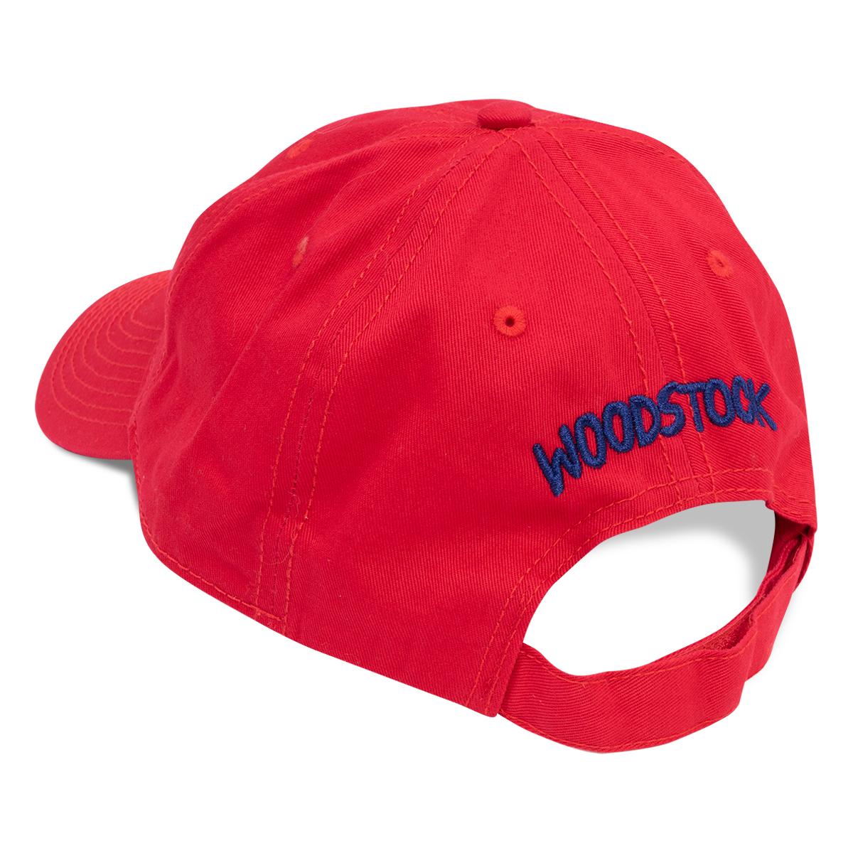 Woodstock 50th Anniversary Red Twill Cap