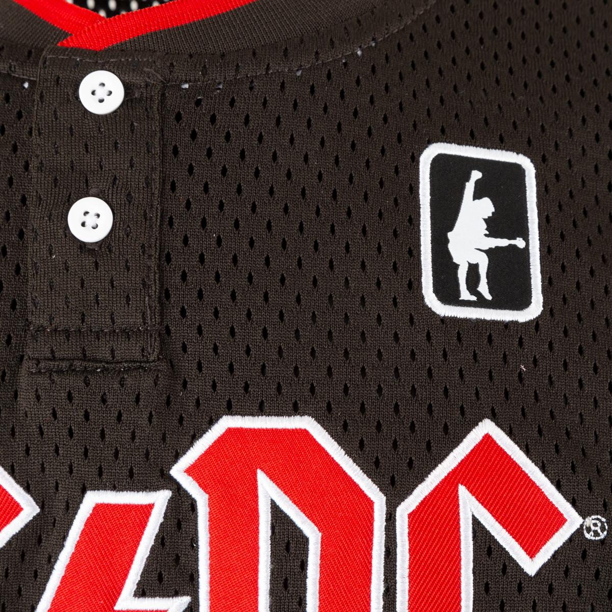 AC/DC 73 High Voltage Red Logo Black Jersey