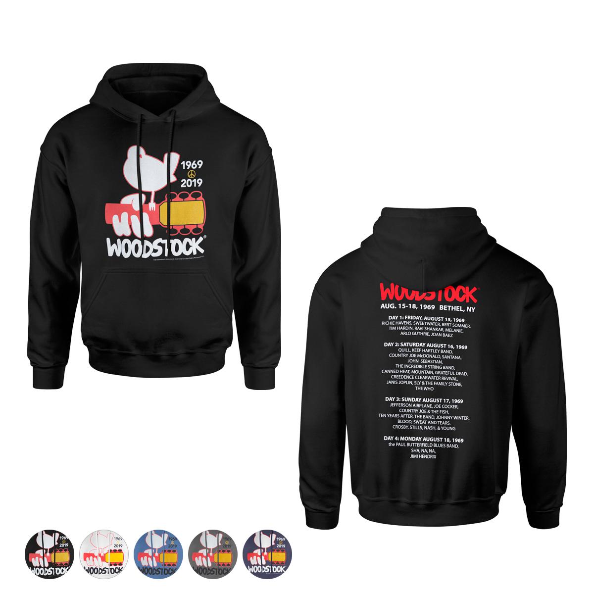 Woodstock 50th Anniversary Logo Hoodie Shop The