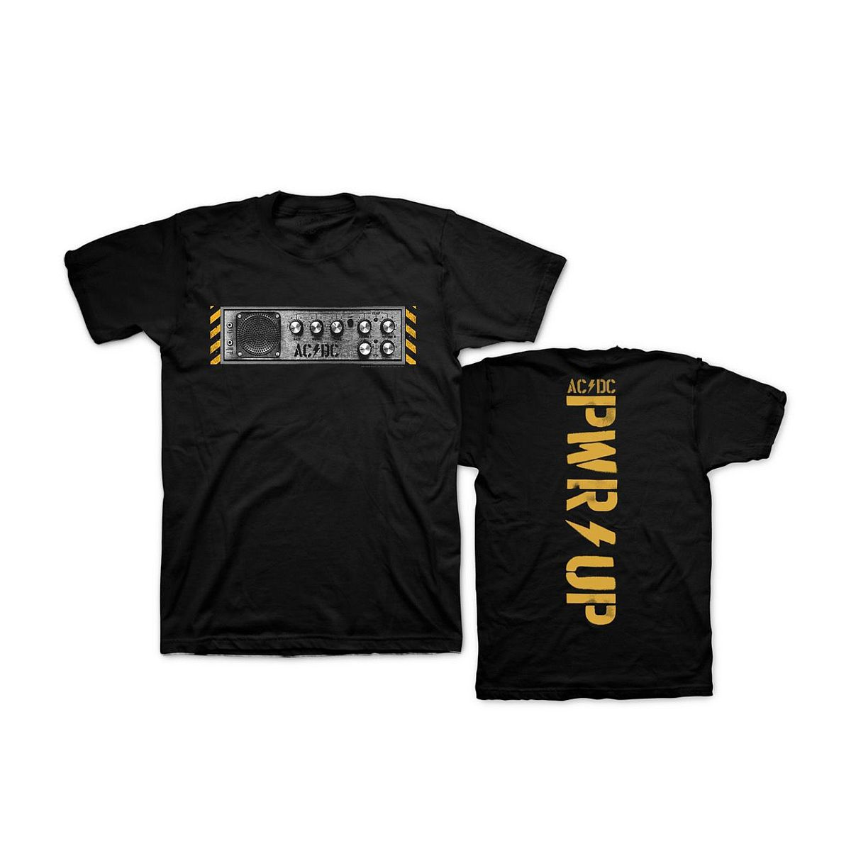 PWR UP Knobs Black T-Shirt