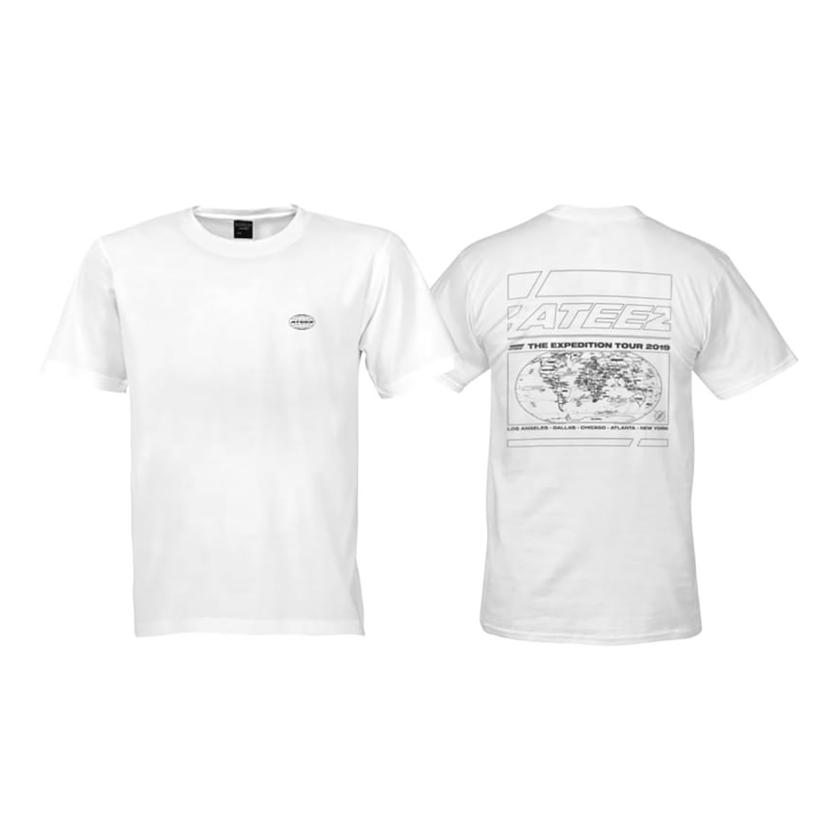 White 'The Expedition Tour' Tshirt - With Cities