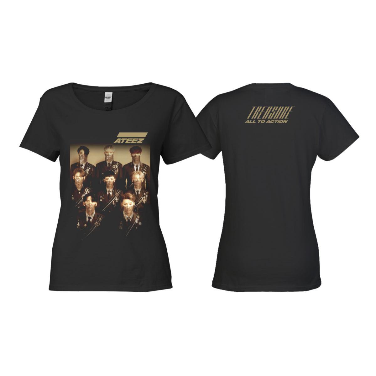 Treasure Ladies Black T-shirt