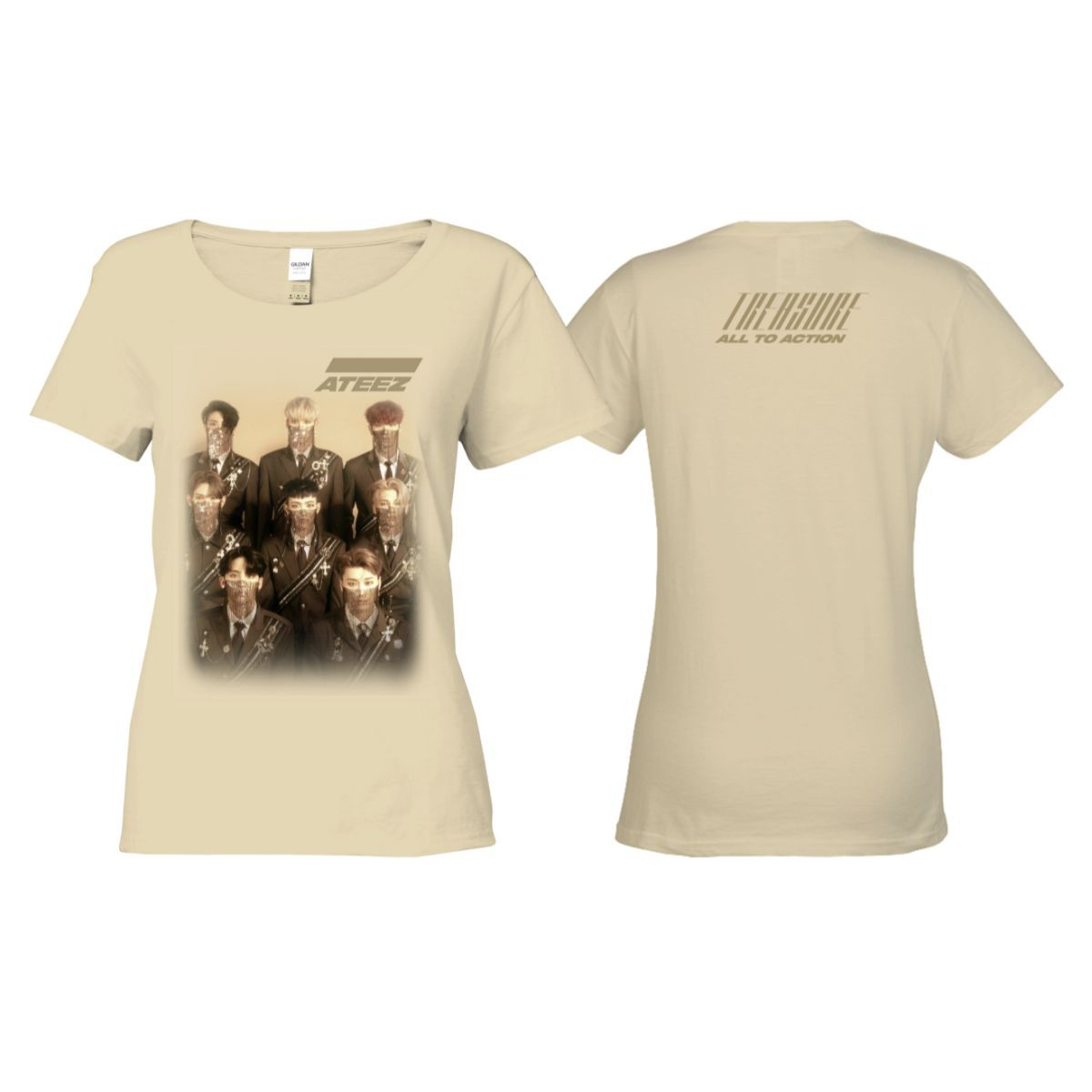 Treasure Ladies Tan T-shirt