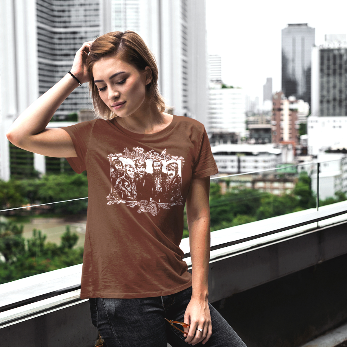 The Band 50 Illustrated T-shirt (Brown)