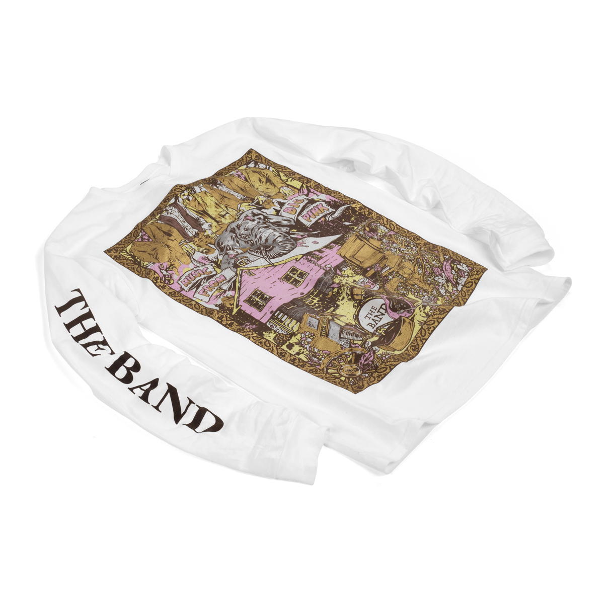 The Band Music From The Big Pink White Longsleeve T-shirt