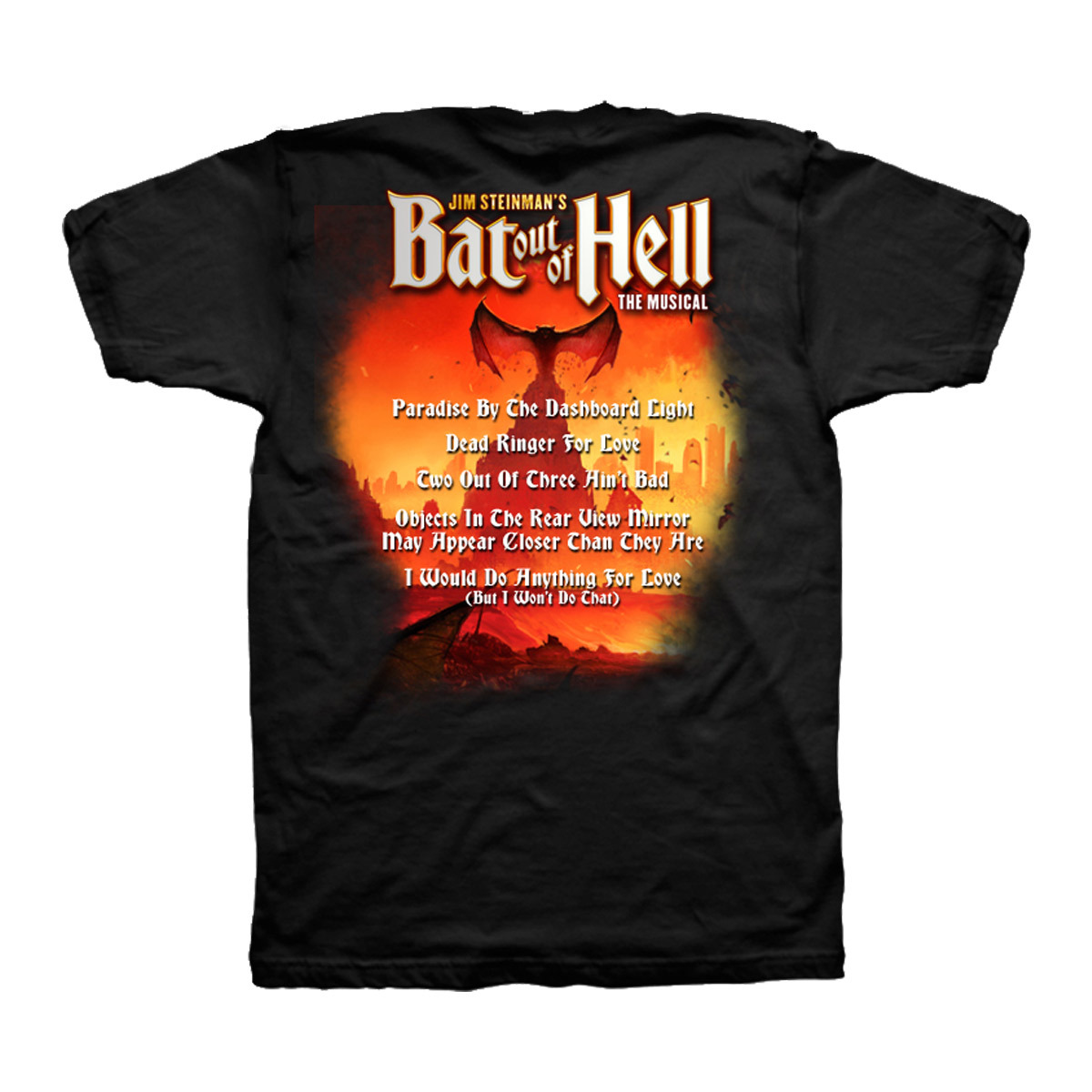 Bat Out Of Hell Men's Lyric T-Shirt