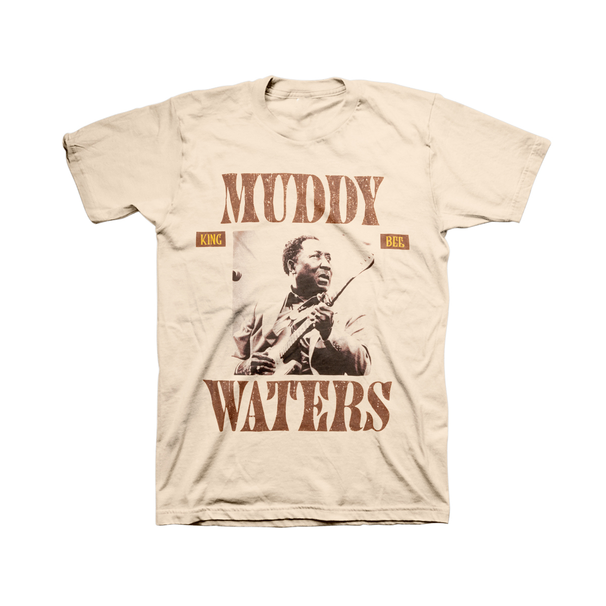 "Muddy Waters ""King Bee"" Tan T-shirt"