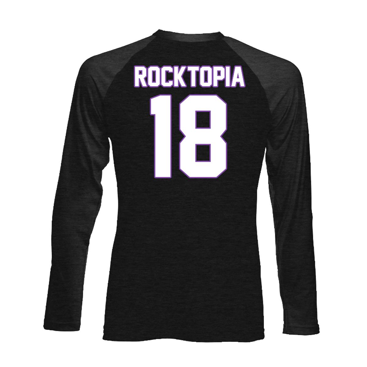 Rocktopia Logo Black/Charcoal Vintage Raglan