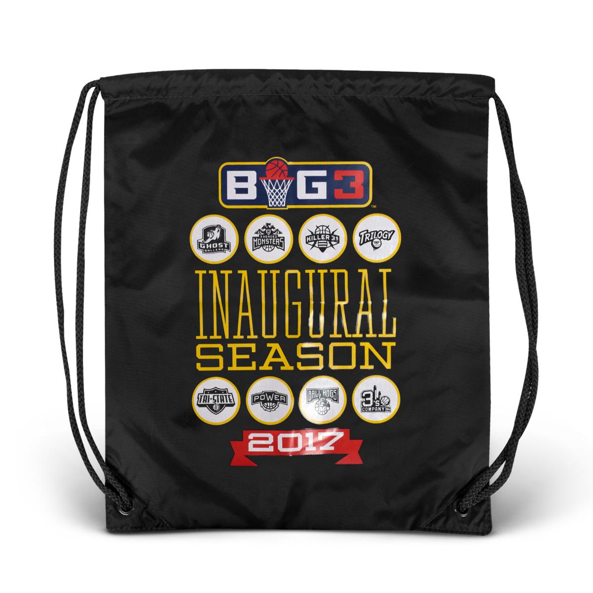 2017 Inaugural Season Black Drawstring Bag