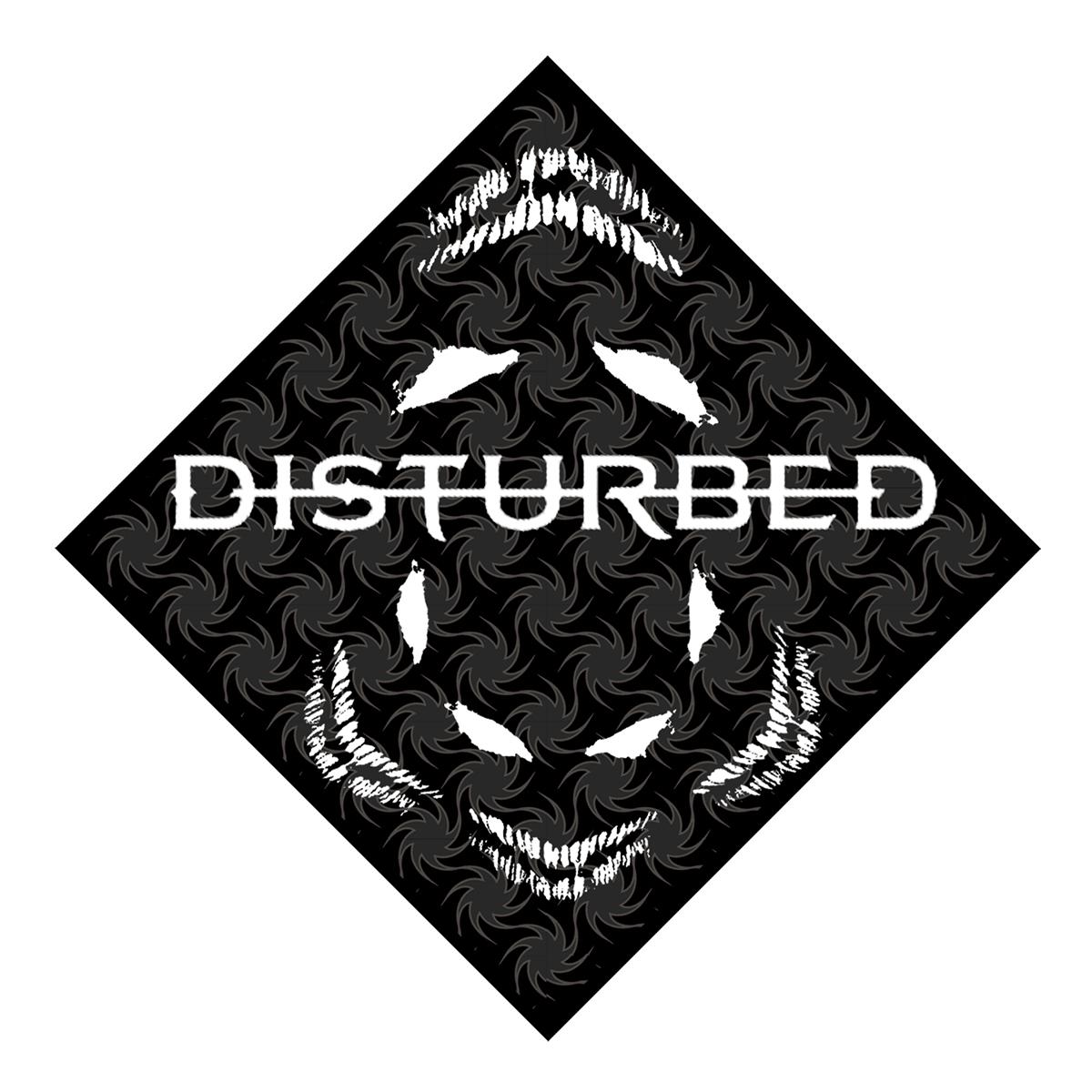 Disturbed Fireball Black Bandana