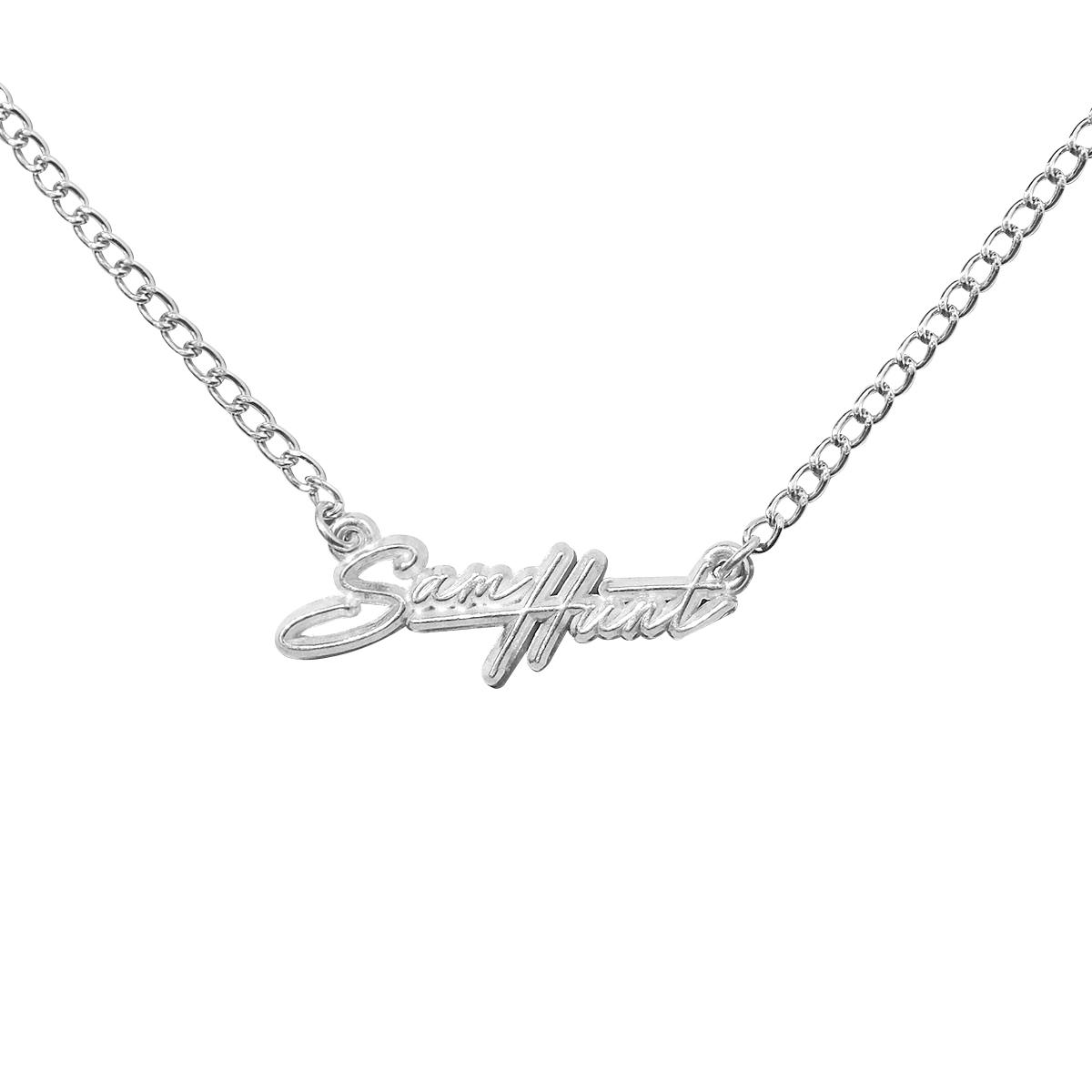 SH Script Necklace