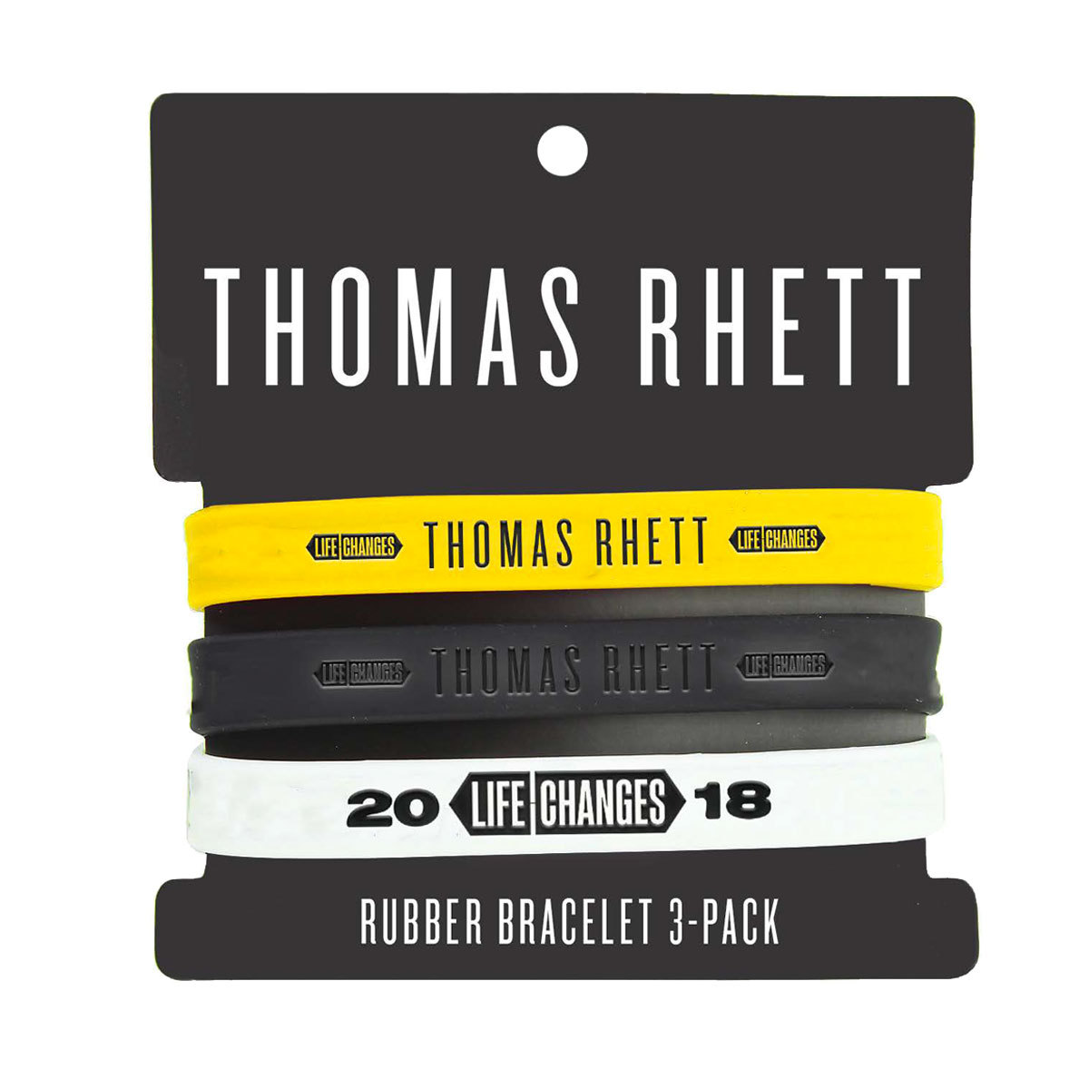 2018 Life Changes Tour Rubber Bracelet Set