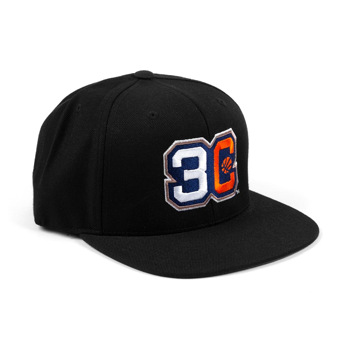 Three's Company Black Flatbrim Hat
