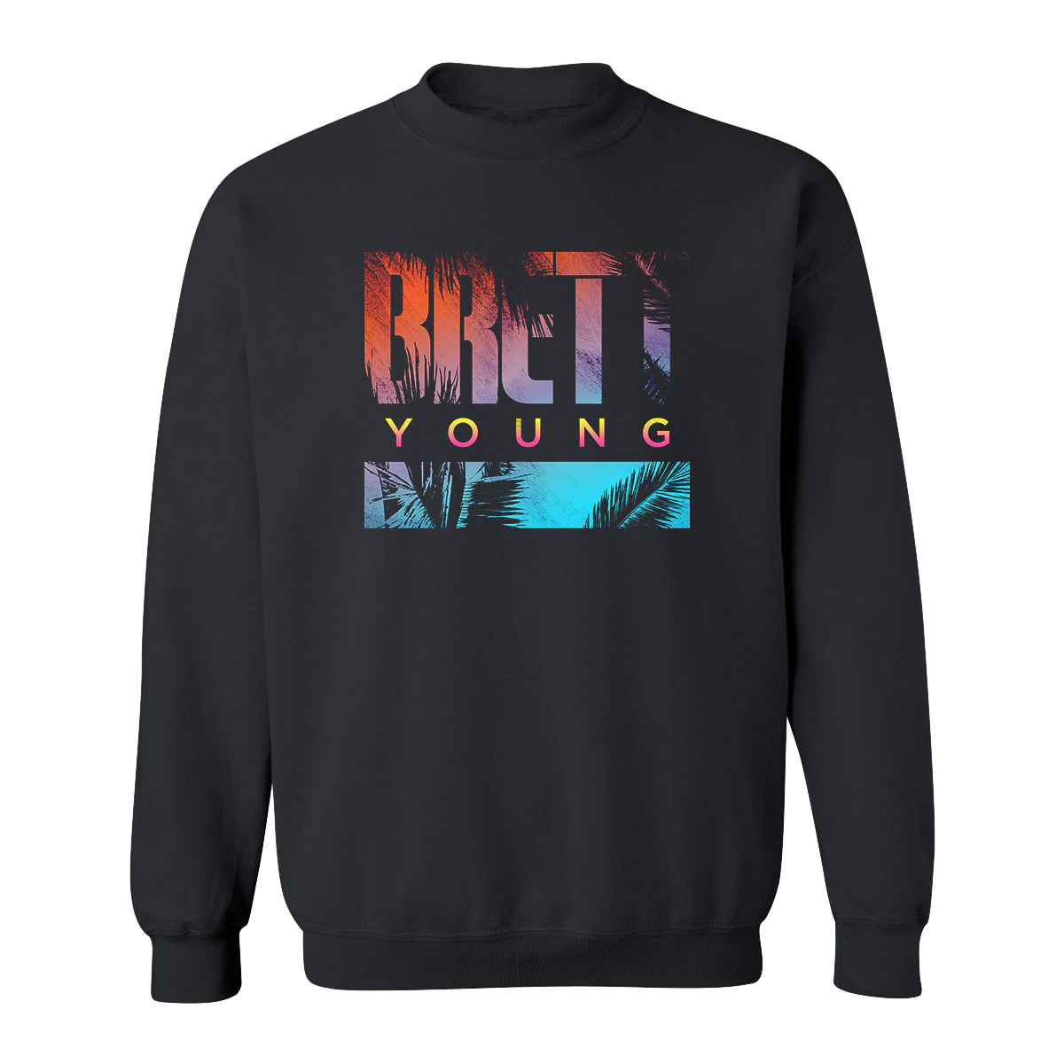 Ombre Palm Dateback Sweatshirt