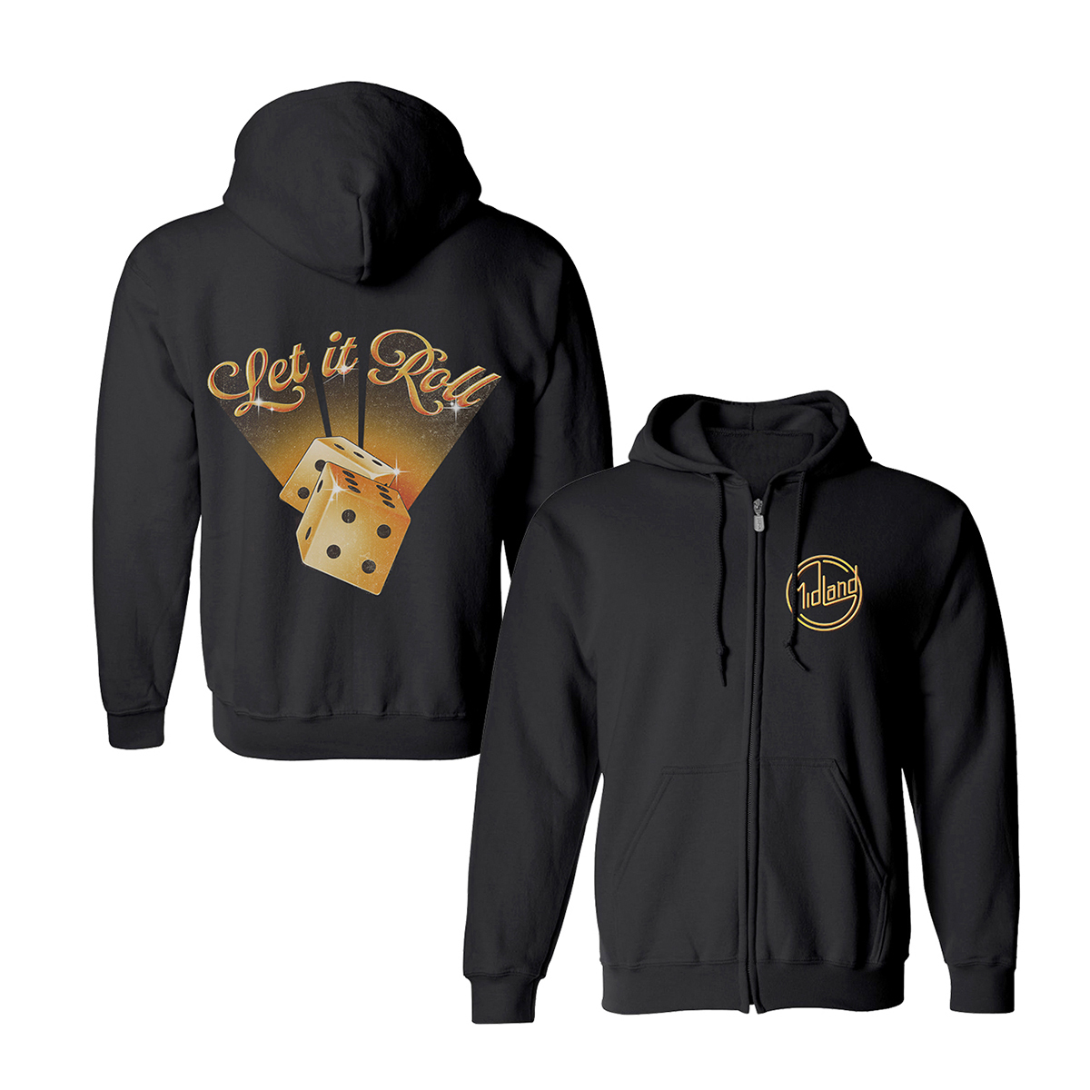 Let It Roll Dice Zip Hoodie